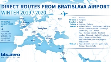 Bratislava Airport Winter Flight Schedule 2019/2020